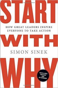 Image of book cover of Start with Why by Simon Sinek
