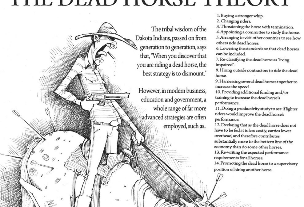 How to Stop Your Business Flogging a Dead Horse