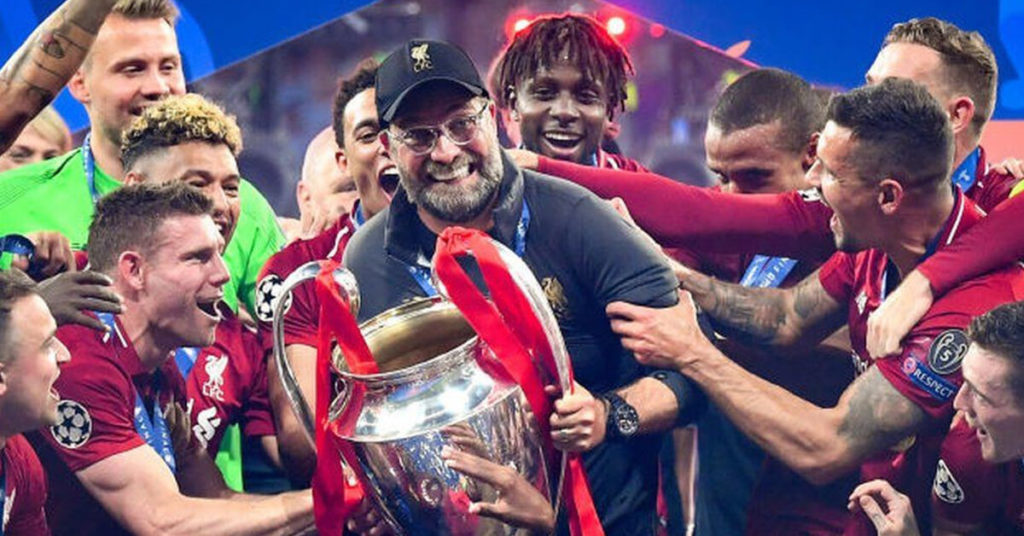 Winning Teams Liverpool FC Celeberating the Club World Cup in December 2019 ©BBC Sport